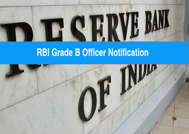 RBI Grade B exam notification
