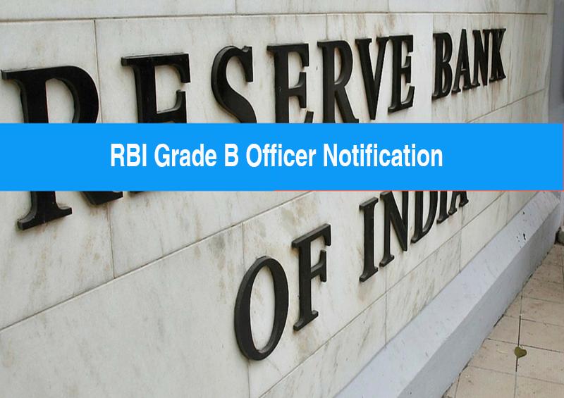 RBI Grade B exam notification