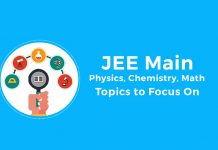 Important Topics for JEE Main 2019