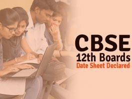 CBSE Class XII Board Exam Datesheet